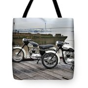 Two Tigers On The Thames Tote Bag