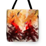 Two To Tango Abstract Tote Bag