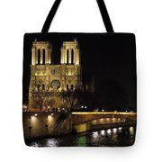 Two Towers Of Notre Dame Tote Bag