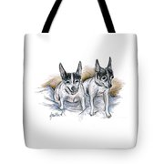 Two Toy Fox Terriers Tote Bag
