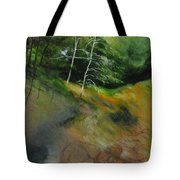 Two Trees In Light Tote Bag