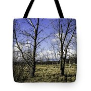 Two Trees Of Blue Tote Bag