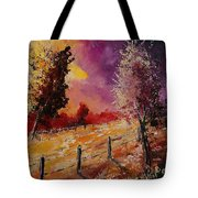Two Trees Waiting For The Storm Tote Bag