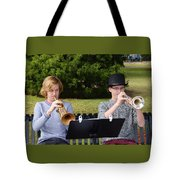 Two Trumpets Tote Bag