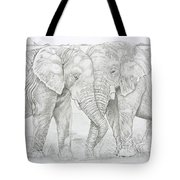 Two Trunks Tote Bag
