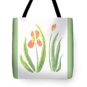 Two Iris II Watercolor Tote Bag