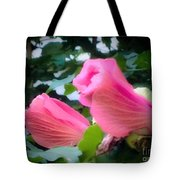 Two Unopen Pink Hibiscus Flowers Tote Bag