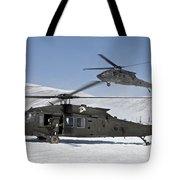 Two U.s. Army Uh-60 Black Hawk Tote Bag