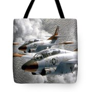 Two U.s. Navy T-2c Buckeye Aircraft Tote Bag