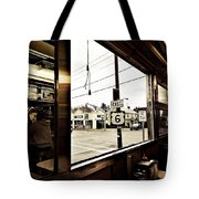 Two Views Inside The Orchid Diner Tote Bag
