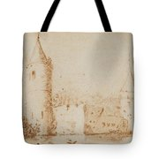 Two Views Of Egmond Castle Tote Bag