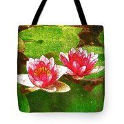 Two Waterlily Flower Tote Bag