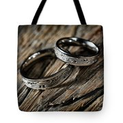 Two Wedding Rings With Celtic Design Tote Bag