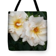 Two White Flowers Tote Bag