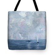 Two White Sails Tote Bag