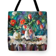 Two White Tulips Tote Bag