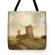 Two Windmills Between Abcoude And Ouderkerk On The Amstel Tote Bag