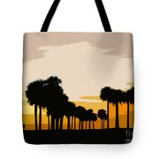 Two With The Palms Tote Bag