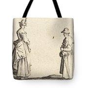 Two Women In Profile Tote Bag