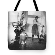 Two Women Making Butter Tote Bag