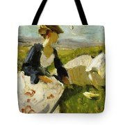 Two Women On The Hillside 1906 Tote Bag