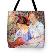 Two Women Reading Tote Bag
