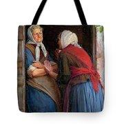Two Women Talking Tote Bag