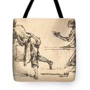 Two Workmen At Tables (recto) Tote Bag