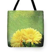 Two Yellow Gerber Daisies Tote Bag