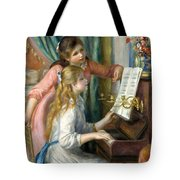 Two Young Girls At The Piano, 1892  Tote Bag