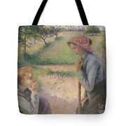Two Young Peasant Women Tote Bag