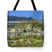 Tybee Island Inlet Tote Bag