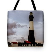 Tybee Island Lighthouse - Square Format Tote Bag