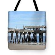 Tybee Island Pier Closeup Tote Bag by Carol Groenen