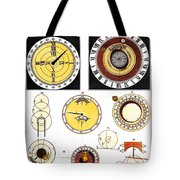 Types Of Clockfaces And Mechanism, 1809 Tote Bag