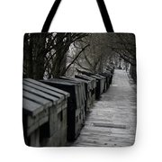 Typical Book Stands Along Seine, Autumn Tote Bag
