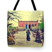 Typical House India Rajasthani Village 1j Tote Bag