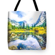 Typical View Of The Yosemite National Park Tote Bag
