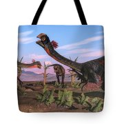Tyrannosaurus Rex Attacking Tote Bag