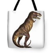 Tyrannosaurus Rex On White Tote Bag