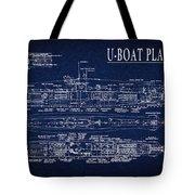 U-boat Submarine Plan Tote Bag