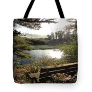 U R Here - On The Bench Tote Bag
