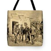 U. S. Cavalry Hunting Garza Men On The Rio Grande Tote Bag