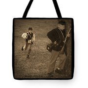 U. S. Civil War Messenger Boy On The Run Tote Bag