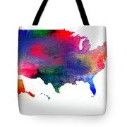 U S Map Color  Tote Bag