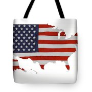 U S Map Stars N Stripes  Tote Bag