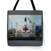 U S N Hospital Ship, Comfort In Boston's Dry Dock Tote Bag