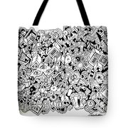 Uberman Collaberation Tote Bag by Chelsea Geldean