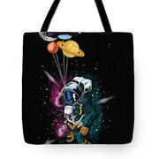 Ufo Astronaut Spaceshuttle Space Force Tote Bag