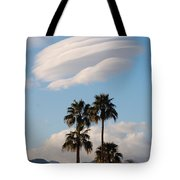 Ufo Cloud Over Palm Springs Tote Bag